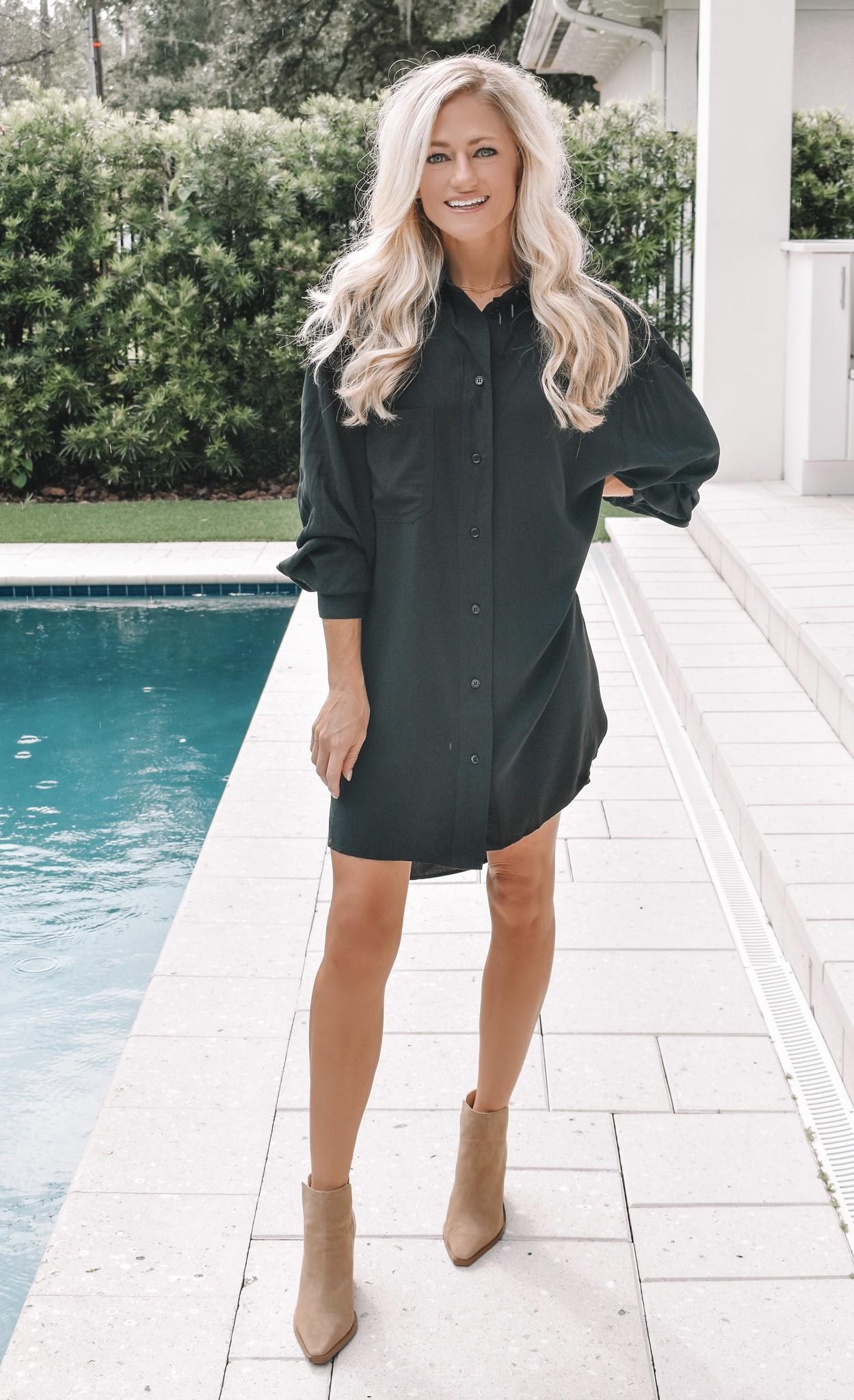 The Carrie Oversized Shirt Dress