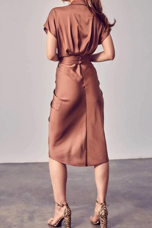 DO + BE The Sofia Satin Dress