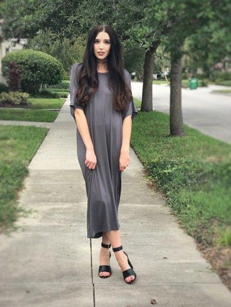 Michelle MC Steator Dress CHARCOAL