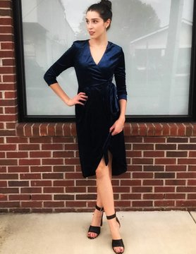 Dance & Marvel Navy Dream Velvet Dress