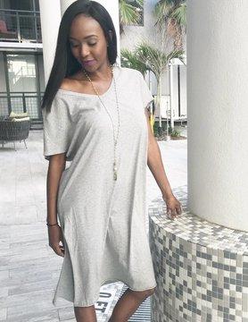 Michelle Carlton Heather Gray Dress