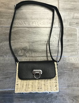 Straw Boxy Crossbody