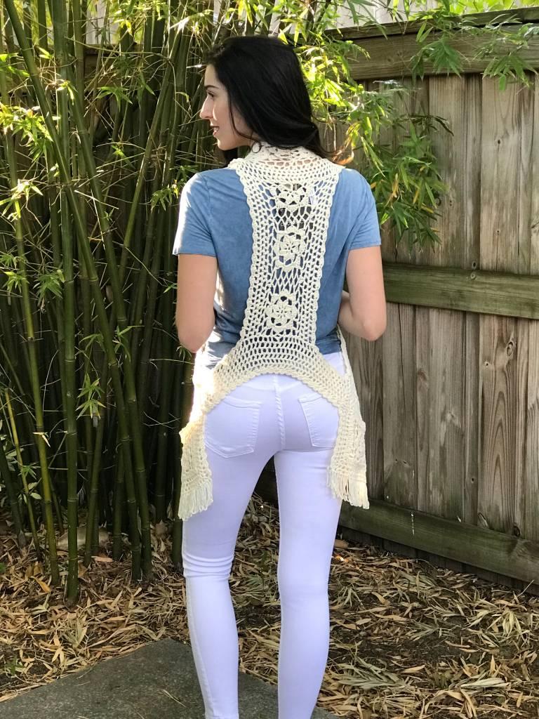 N Merci Free Spirit Crochet Vest