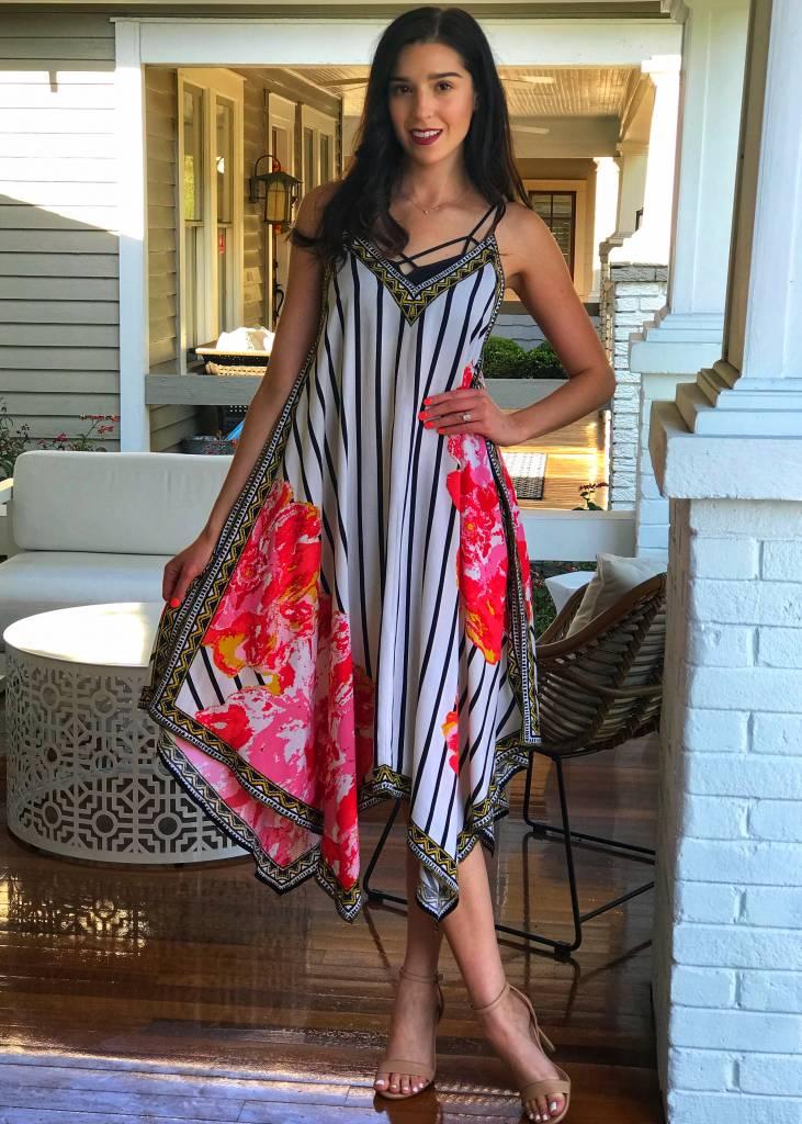 Olivacious Floral Hankercheif Dress