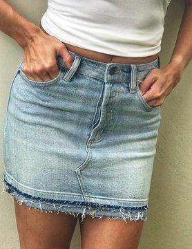 Hidden HD Light Denim Skirt