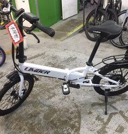 Limber Electric Folding Bike White
