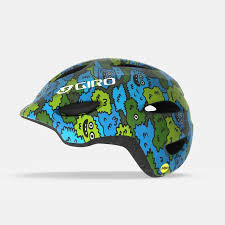 helmet youth Scamp blue green Camo S