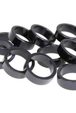 EVO EVO, Alloy headset spacers, 28.6mm, Black, 5mm, (10X)