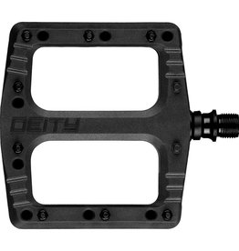 Deity Deity, Deftrap, Platform Pedals, Body: Nylon, Spindle: Cr-Mo, Black, Pair
