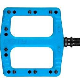 Deity Deity, Deftrap, Platform Pedals, Body: Nylon, Spindle: Cr-Mo, Blue, Pair