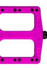 Deity Deity, Deftrap, Platform Pedals, Body: Nylon, Spindle: Cr-Mo, Pink, Pair