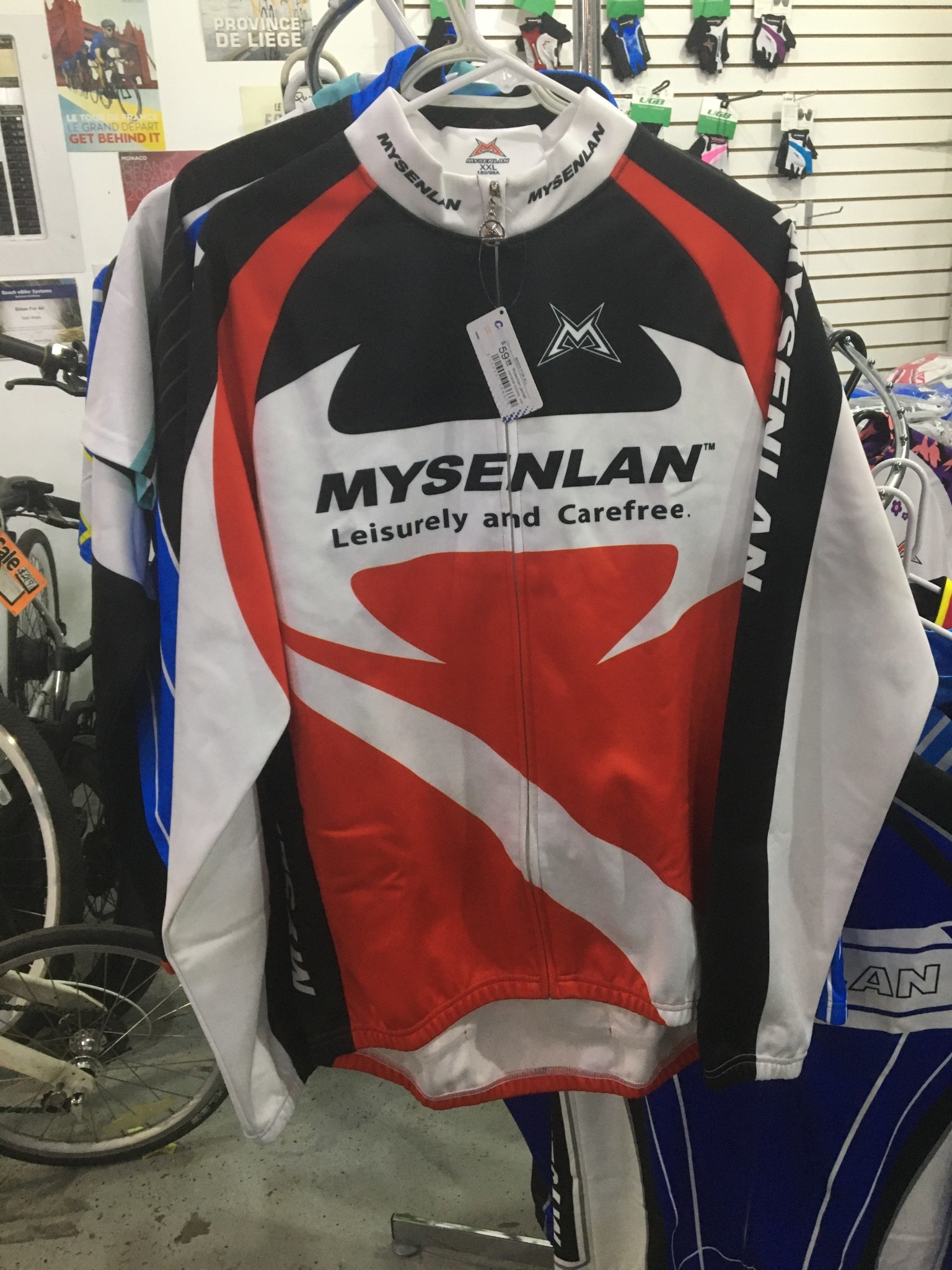 "Mysenlan Red/Black/White Jacket ""Lesiurely and Carefree"""