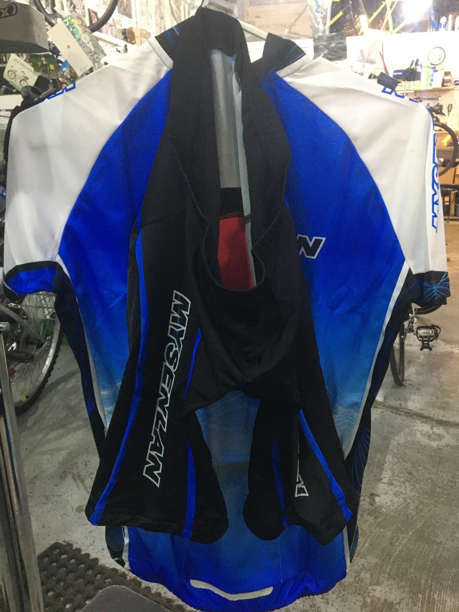 MySenlan Mysenlan Blue/White/Black Short Sleeve Jersey+Shorts