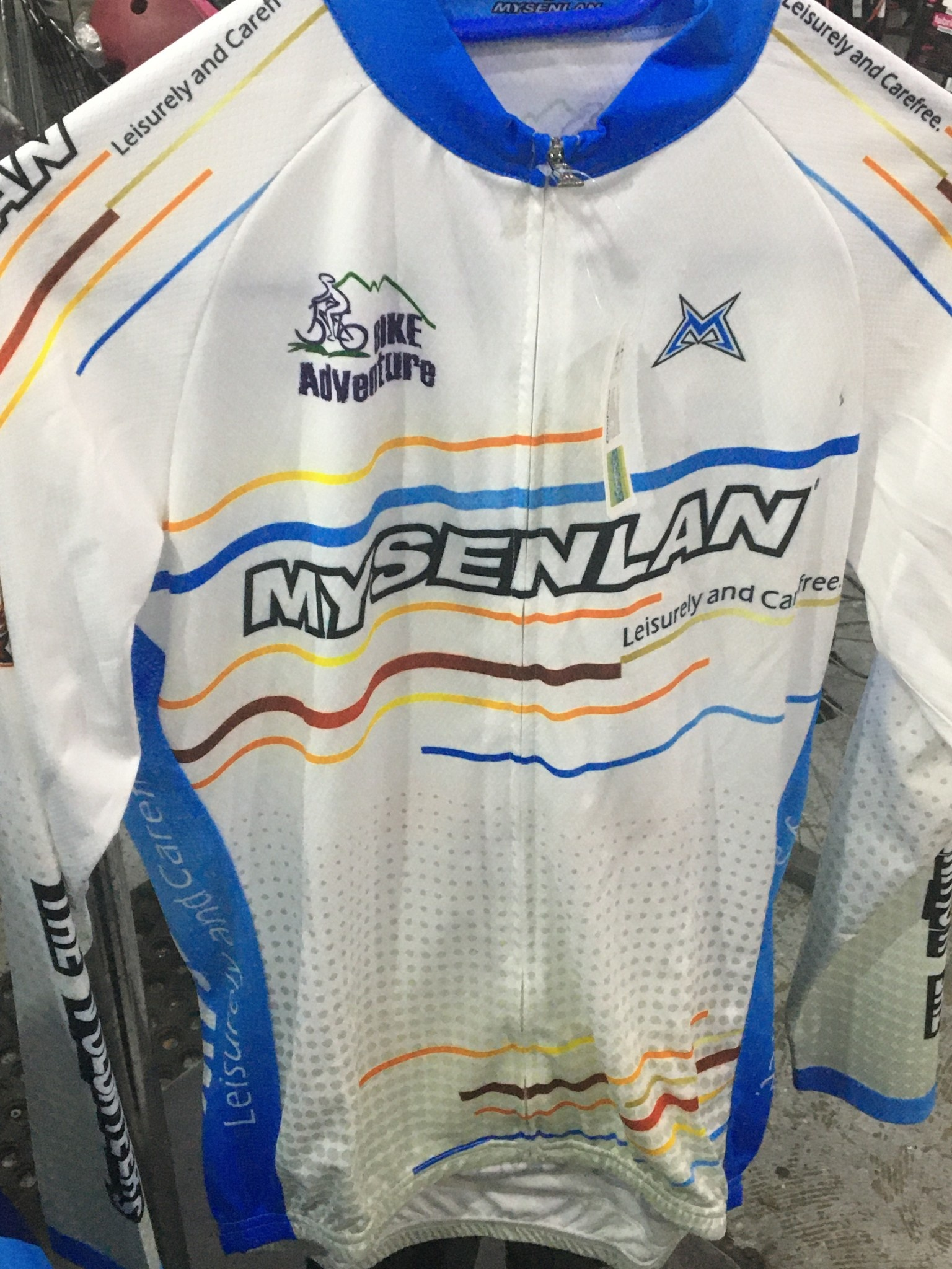 MySenlan Mysenlan White/Various Colors Long Sleeve Jersey+Shorts