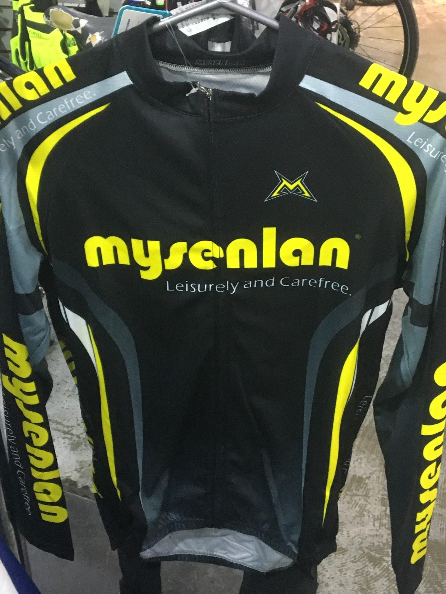 MySenlan Mysenlan Black/Grey/Yellow Jersey+Shorts