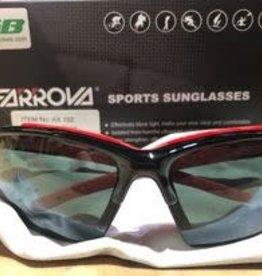 farrova Farova Shiny Black/Red oulines Sunglasses
