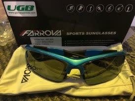 Farova Favora Shiny Blue Sunglasses 1 Piece