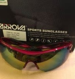 farrova Farrova Shiny Red Sunglasses + Prescription Slot + 5 Lenses (different colors)