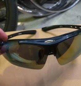 farrova Farrova Shiny Blue Sunglasses + Prescription Slot + 5 Lenses (different colors)