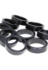 EVO EVO, Alloy headset spacers, 28.6mm, Black, 10mm, (10X)