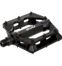 EVO EVO, Freefall Sport, Platform Pedals, Body: Nylon, Spindle: Cr-Mo, 9/16'', Black, Pair