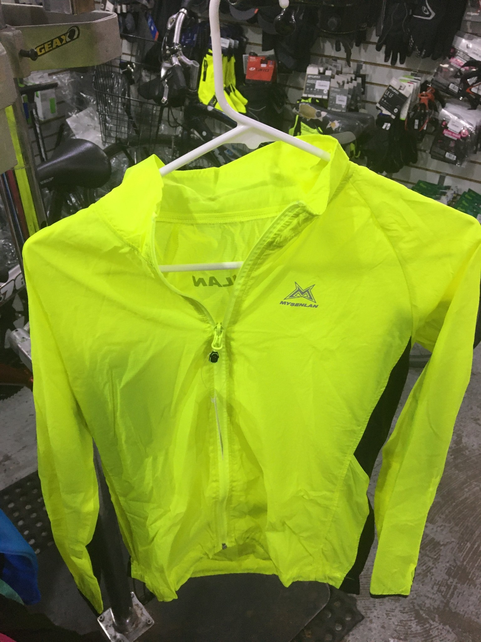 Mysenlan Yellow Windbreaker Jacket