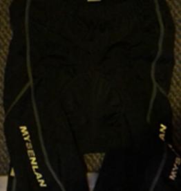 MySenlan MySenlan Black/Grey Stripes Shorts w/ MySenlan Logo