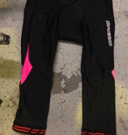 MySenlan MySenlan Pink/Black Pants with  Red Ankle Stripes
