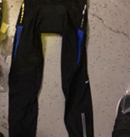 MySenlan MySenlan Black Pants with Blue Stripes + Yellow