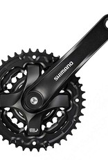 Shimano Shimano, FC-TY501, Crankset, 6/7/8 sp., 175mm, 24/34/42T, Riveted, Square, 47.5mm, Black