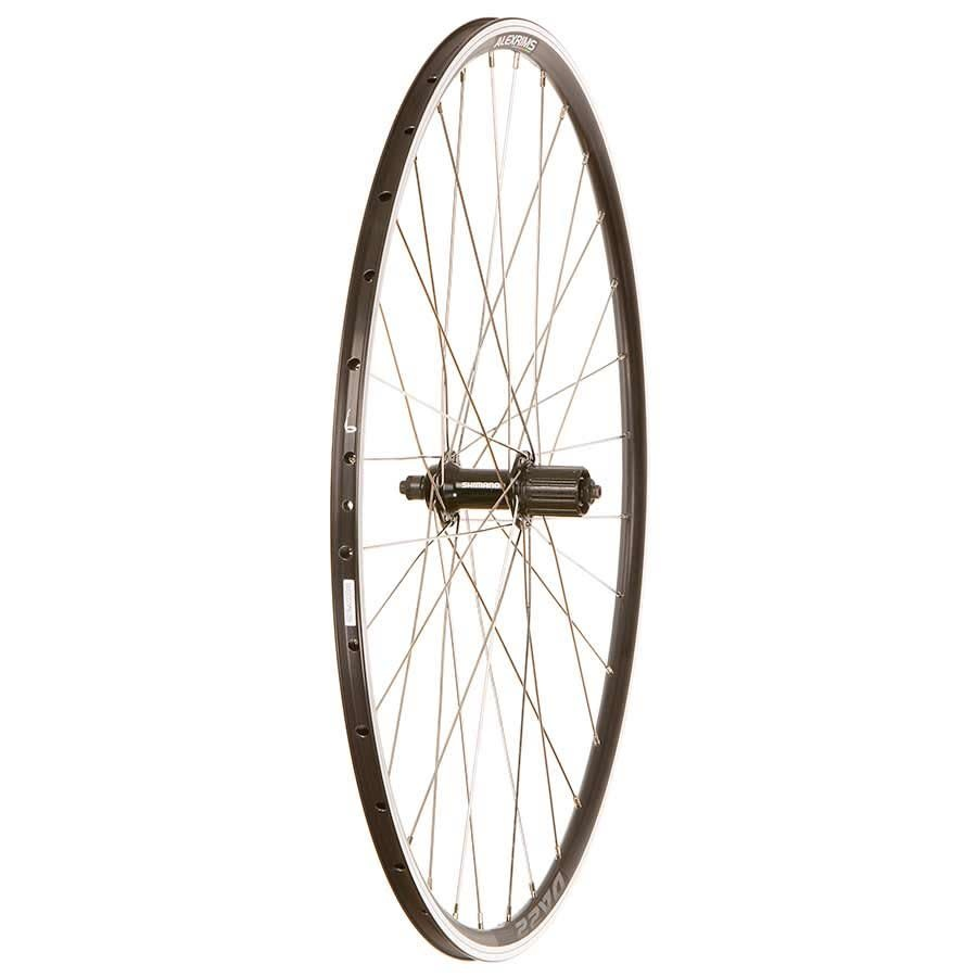Wheel Shop Wheel Shop, Alex DA22/ Shimano FH-RS400 Black, Wheel, Rear, 700C / 622, Holes: 32, QR, 130mm, Rim, Shimano HG 11