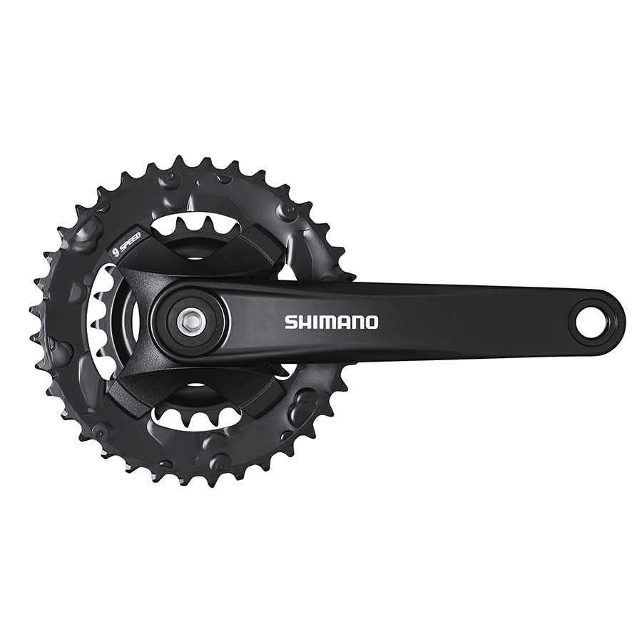 Shimano Shimano, FC-MT101-2, Crankset, Speed: 9, BCD: Rivets, 22/36, Square, 175mm, Black, MTB