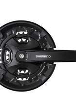Shimano Shimano, FC-MT101, Crankset, Speed: 9, BCD: Rivets, 22/32/44, Square, 175mm, Black, MTB