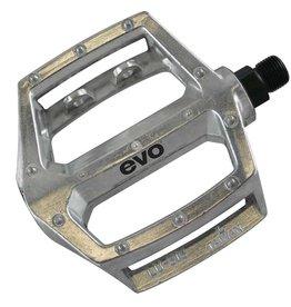 EVO EVO, Freefall, Platform pedals, 9/16'', Moulded pins, Silver