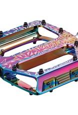 Supacaz Supacaz, Krypto, Platform Pedals, Body: Aluminum, Spindle: Cr-Mo, 9/16'', Multicolor, Pair