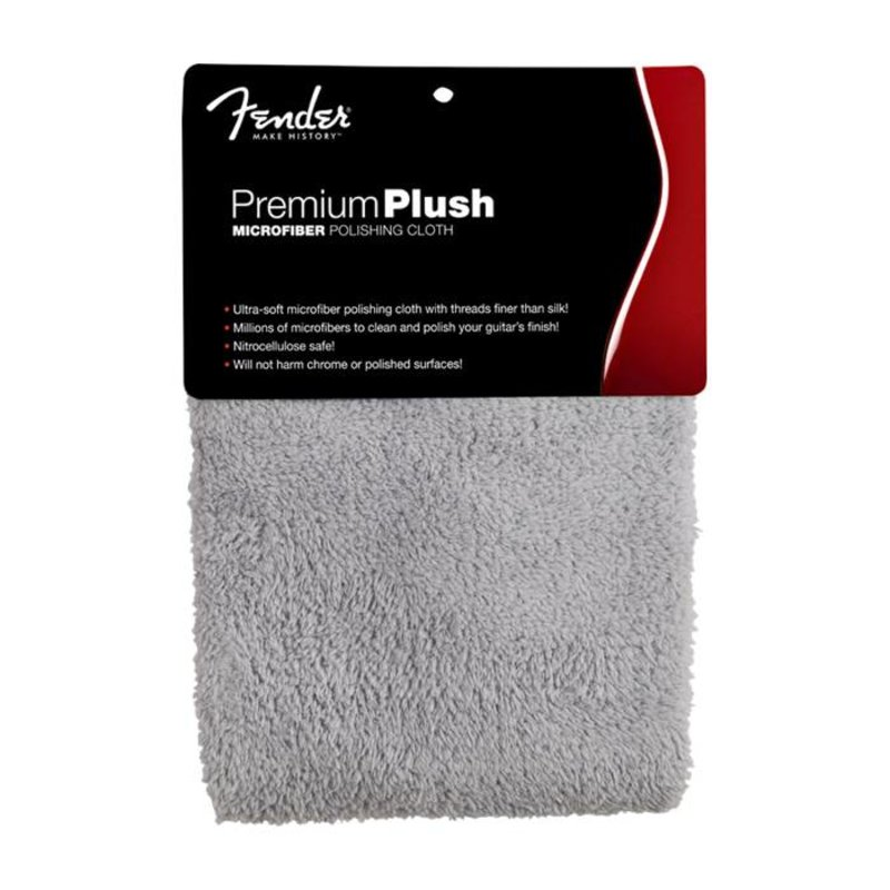 Fender NEW Fender Premium Plush Microfiber Polishing Cloth - Gray