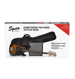 Squier NEW Squier Affinity Series Precision Bass Pack - Brown Sunburst