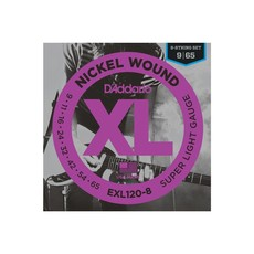 D'Addario NEW D'Addario EXL120-8 Nickel Wound 8-String Electric Strings - Super Light - .009-.065