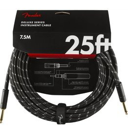 Fender NEW Fender Deluxe Series Instrument Cable (STR/STR 25 FT) - Black Tweed