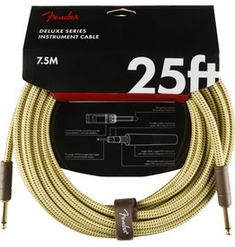 Fender NEW Fender Deluxe Series Instrument Cable (STR/STR 25 FT) - Tweed