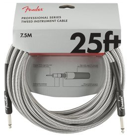 Fender NEW Fender Professional Series Cable 25' Straight/Straight - White Tweed