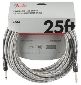 Fender NEW Fender Professional Series Instrument Cable (STR/STR 25 FT) - White Tweed