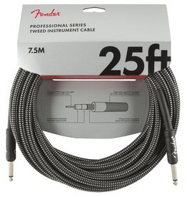 Fender NEW Fender Professional Series Instrument Cable (STR/STR 25 FT) - Gray Tweed