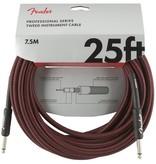 Fender NEW Fender Professional Series Instrument Cable (STR/STR 25 FT) - Red Tweed