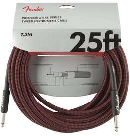 Fender NEW Fender Professional Series Instrument Cable (STR/STR 25 FT) - Red Tweed
