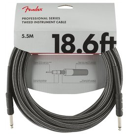 Fender NEW Fender Professional Series Instrument Cable (STR/STR 18.6 FT) - Gray Tweed