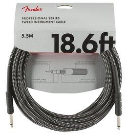 Fender NEW Fender Professional Series Instrument Cable (STR/STR 18.6 FT) - Gray Tweed
