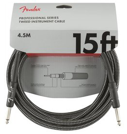 Fender NEW Fender Professional Series Cable - 15' Straight/Straight - Gray Tweed