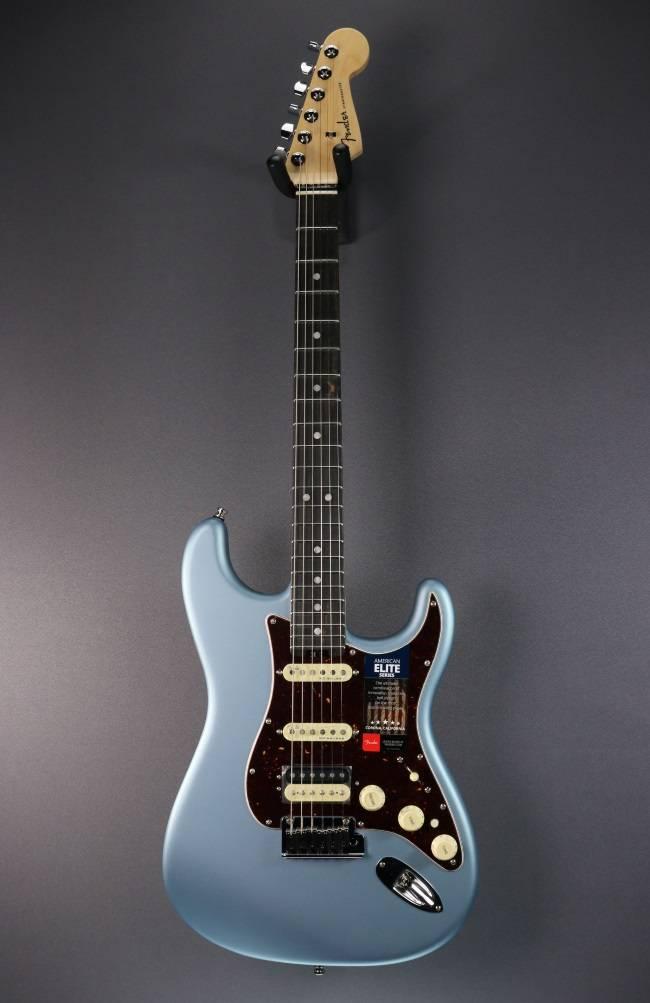 Fender NEW Fender American Elite Stratocaster HSS  - Satin Ice Blue Metallic (505)