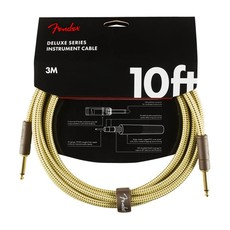 Fender NEW Fender Deluxe Cable - 10' Straight/Straight - Tweed